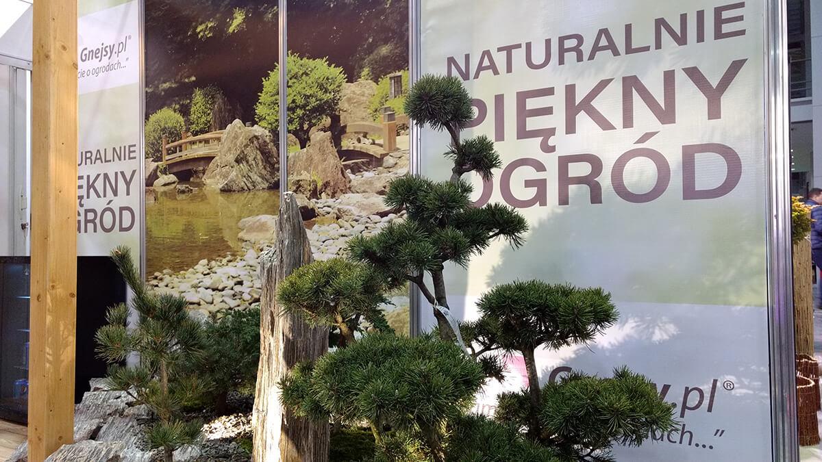 Zaprojektowane stoisko targowe dla Gnejsy.pl - naturalnie piękny ogród