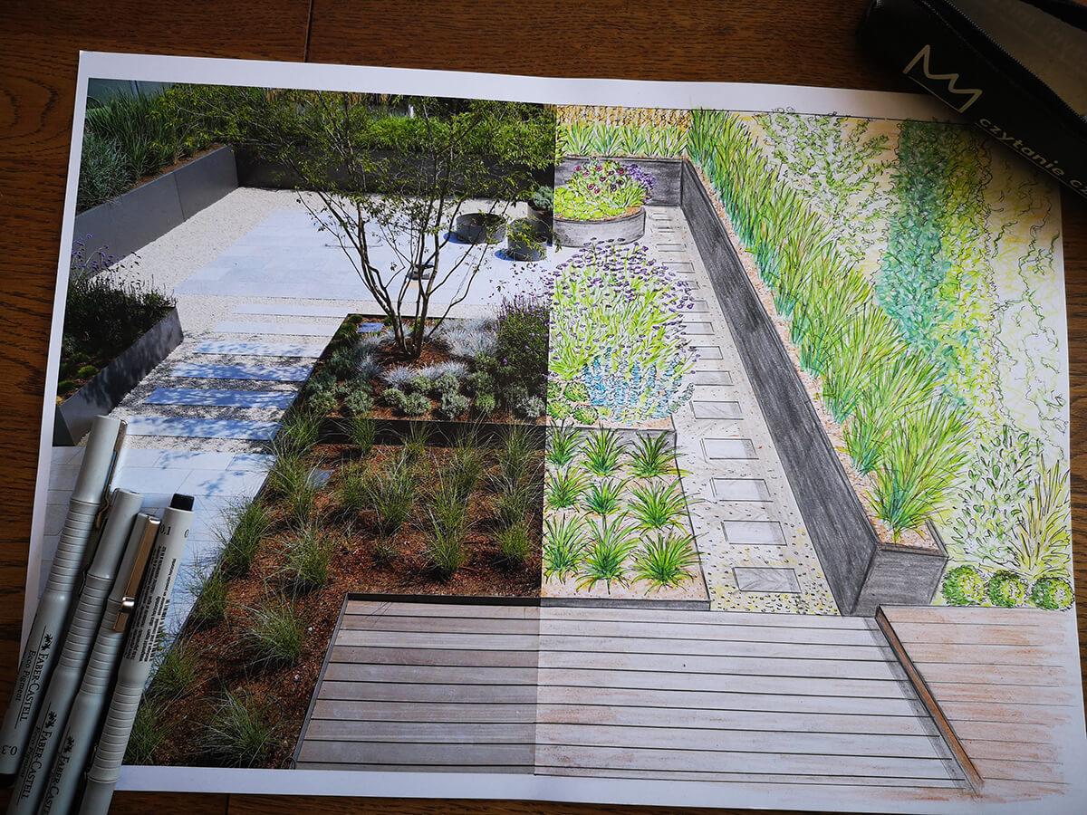 projektowanie ogrodu rysunek